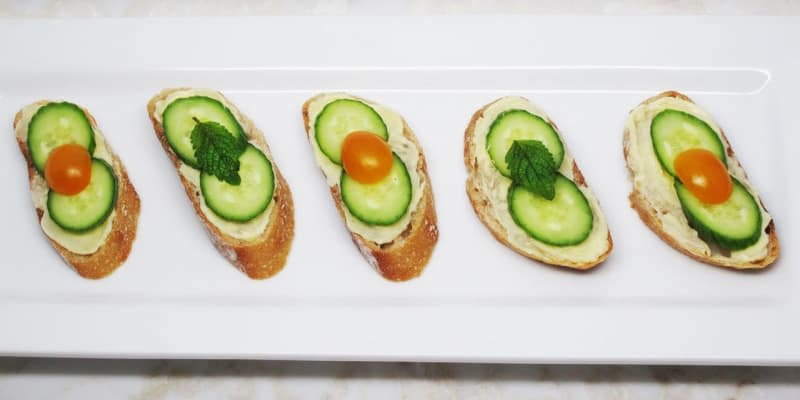 Cultured butter tea sandwiches